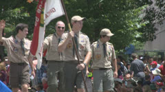 Boy Scouts  Stock Footage