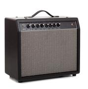 A black amp on a white background Stock Photos