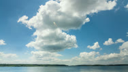 Lake with clouds time lapse Stock Footage