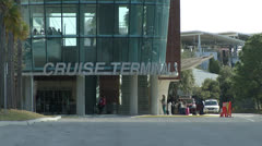Cruise terminal 3 Stock Footage