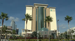 Embassy suites in Downtown Tampa Stock Footage