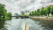 Berlin Boat Time Lapse Stock Footage