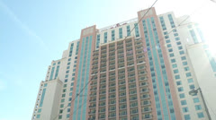 Tilt down of Marriott in Downtown Tampa Stock Footage