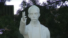 Medium Shot of Jose Marti Statue Stock Footage