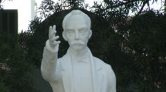 Zoom out of Jose Marti Statue - stock footage
