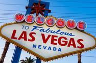 Stock Photo of welcome to fabulous las vegas sign