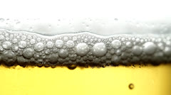 Beer & Foam Background Stock Footage