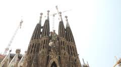 Sagrada familia, Gaudi. Stock Footage