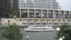 A Chicago river boat on July 4, 2013 Stock Footage