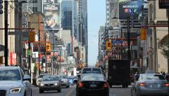 Yonge Street traffic. Stock Footage