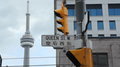 Queen St. W. Toronto. Stock Footage