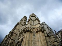 architectural detail york minster - stock photo