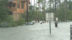 Flooded street Stock Footage