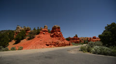 Bryce Canyon Driving LM01 Scenic Byway 12 Red Canyon Stock Footage