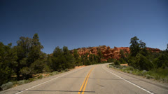 Bryce Canyon Driving LM02 Scenic Byway 12 Red Canyon Stock Footage