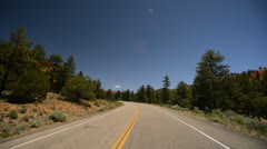 Bryce Canyon Driving LM03 Scenic Byway 12 Red Canyon Stock Footage