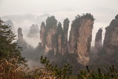 Zhangjiajie mountains. - stock photo
