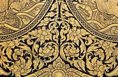 Stock Photo of floral thai art
