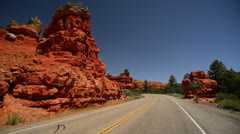 Bryce Canyon Driving LM06 Timelapse Scenic Byway 12 Red Canyon Tunnels Stock Footage