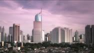Stock Video Footage of Jakarta city sunset