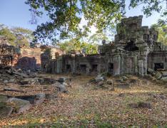 preah khan temple - stock photo