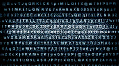 Screen with Abstract Text Stock Footage