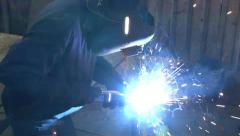Structural Steel Fabrication Welding PAL - stock footage