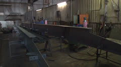 Structural Steel Fabrication NTSC Stock Footage
