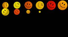 Happy Smiley  Animation+Alpha Channel Stock Footage