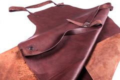 brown leather apron - stock photo