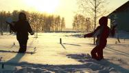 Stock Video Footage of Young couple throws snowballs (SLOW)