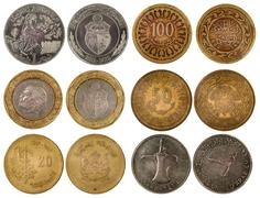 Different arabian coins Stock Photos