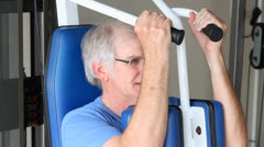 Senior Chest Exercising - stock footage