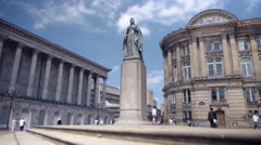 Statue of Queen Victoria, Birmingham, England. Stock Footage