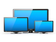 High definition tv. different screen sizes. Stock Illustration