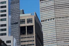 Manhattan Skyscraper Facades Stock Photos