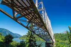 Bridge Over Columbia River - stock photo