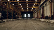 Stock Video Footage of Industrial interior of an old building