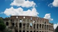 Stock Video Footage of Colosseum cloud time-lapse