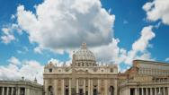Stock Video Footage of St Peter's basilica cloud time-lapse