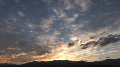 Inspirational Dawn Sunrise Colored Sky time lapse Stock Footage