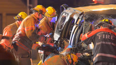 Crash Extrication 02 Stock Footage