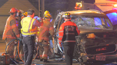 Crash Extrication 03 Stock Footage