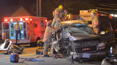 Crash Extrication 11 Stock Footage