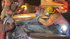Crash Extrication 12 Stock Footage
