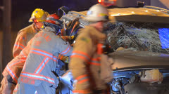 Crash Extrication 07 Stock Footage