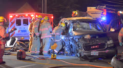 Crash Extrication 08 - stock footage