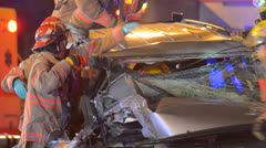 Crash Extrication 13 Stock Footage