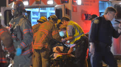 Crash Extrication Patient 3 Stock Footage