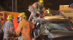 Crash Extrication 09 Stock Footage